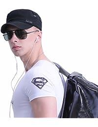 Men's Cotton Army Cap Cadet Hat Military Flat Top Adjustable Baseball Cap