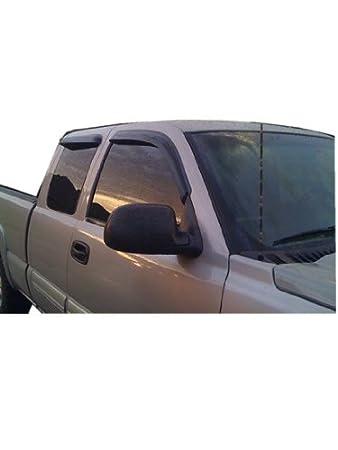 Rain Guards For Trucks >> Chevy Silverado Gmc Sierra Extended Cab Vent Window Shades Visors Rain Guards 99 00 01 02 03 04 05 06