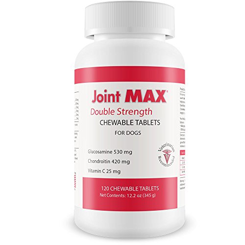 Maximum Strength Chewable Tablets - Joint MAX Double Strength - Vitamins, Minerals, Antioxidants - Maximum Joint Health Supplement for Dogs - 120 Chewable Tablets