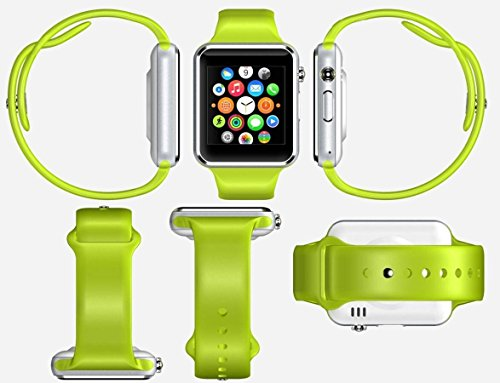 ETbotu A1 Bluetooth Waterproof GSM Touch Screen Smart Wrist Watch For Android IOS Phone Green by ETbotu