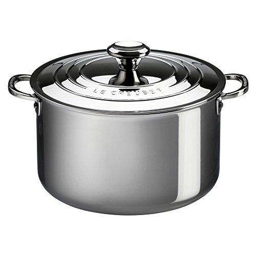 Le Creuset Tri-Ply Stainless Steel Stockpot with Lid, 7-Quart by Le Creuset