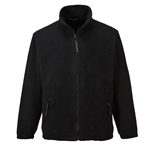 Portwest Mens Argyll Heavy Fleece Anti-Pill Jacket (F400) (M) (Black)