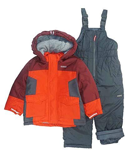 OshKosh B'Gosh Boys' Little Ski Jacket and Snowbib Snowsuit Set, Maple Leaf/Sneaker Grey, ()