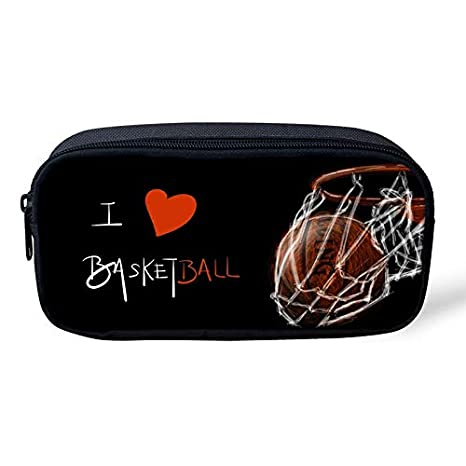 Amazon.com: Bonito estuche de baloncesto con cremallera y ...