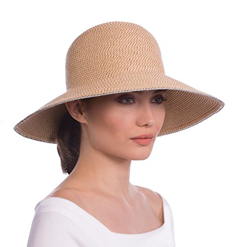 Eric Javits Luxury Fashion Designer Women's Headwear Hat - Hampton - Peanut by Eric Javits