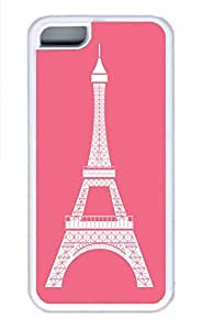 APPLE iPhone 5C Case - Pink Eiffel Tower Cool Retro Customize iPhone 5C Cover White
