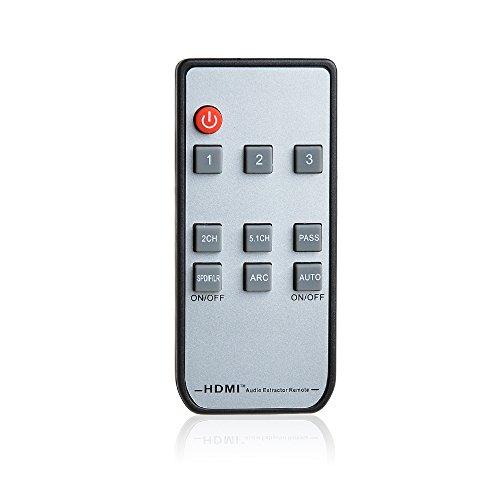 AGPTEK 4K 3D ARC 3x1 HDMI Switch with IR Wireless Remote