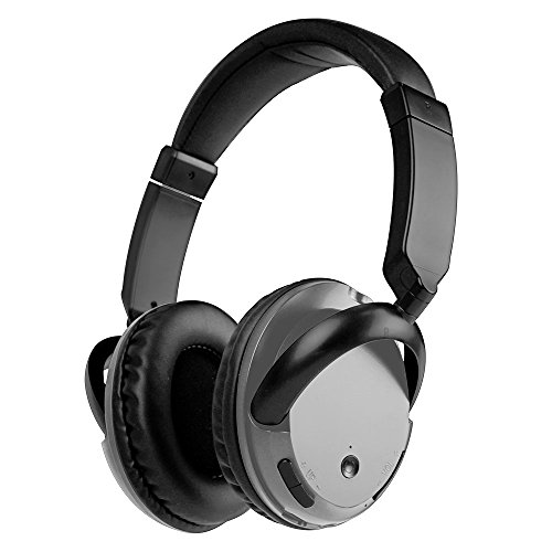 Bluetooth Headphones Over Ear, Lightweight, Comfortable for Prolonged Wearing, Hi-Fi Stereo Wireless Headphones, Foldable Headset Built-in Mic and Wired Mode for PC/Cell Phones-Gray