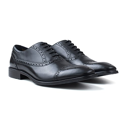 Goodwin Smith Ealing Brogue Mens Oxford Stringate Nero