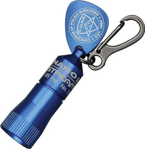 Black Waterproof LED Keychain Flashlight 230 Lumens Batteries Included Police