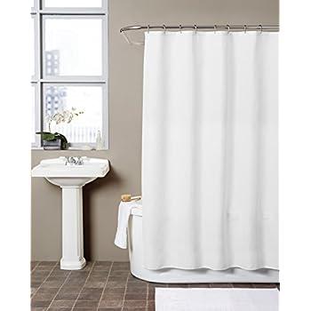 Amazon.com: Hermosa Collection Waffle Fabric Shower Curtain (72 x ...