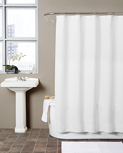 Hermosa Collection Waffle Fabric Shower Curtain (72 x 72, (Curtain Collection)