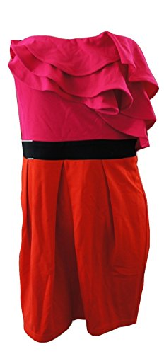 Pink RED Einfarbig LipsyDamen Kleid Rosa Wq4w1XP0SX