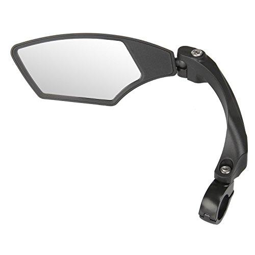 M-Wave Spy Space Fietsspiegel, 3-Dimensionaal Verstelbaar, Zwart