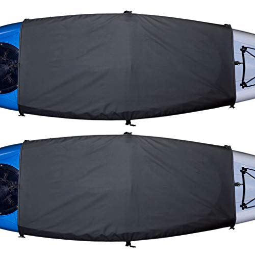 Cockpit Cover - Explore Land Universal Kayak Cockpit Drape Waterproof Seal Cockpit Cover for Indoor and Outdoor (Large (60 x 29 inches), 2 Pack)
