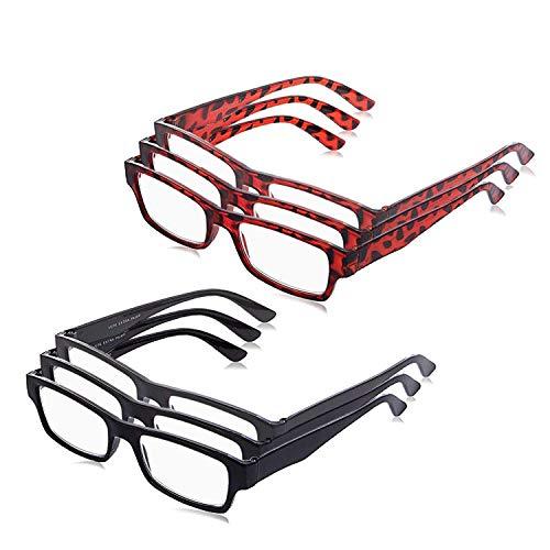 Boomer Eyeware Extra Pair of Value Eyes Designer Reading Glasses for Men & Women, 1.00, Assorted Colors, 6 ()