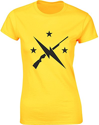 Minutemen, Ladies Printed T-Shirt - Daisy/Black S = 2-4