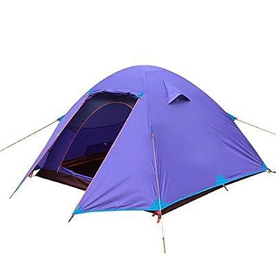 3 - 4 personne double contre la tempête solaire voyage plein air extérieur en aluminium et tentes de camping trois pôle