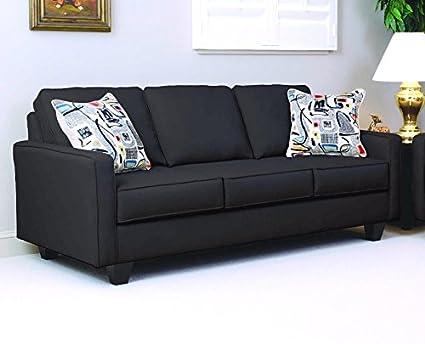 Serta Upholstery 1900S 1900S03 Contemporary Style Sofa in Graham, Black
