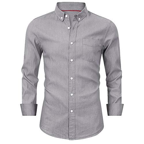 NOBRAND Camisa de hombre de manga larga para hombre