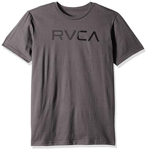 (RVCA Men's Blinded Short Sleeve Crew Neck T-Shirt, Grey Noise, S )