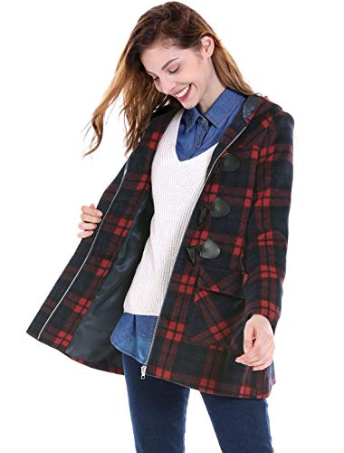 Classiche Classiche Vintage Coat Cappotto Donna Invernali Donne Casuale Cappotto Rot Duffle Casual Eleganti Manica Fashion Outerwear Incappucciato Lunga Giacca Battercake Reticolo Autunno XHwxnHIB