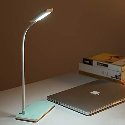 Lamparas LED Flexible lamparas de Mesa 3 Niveles Regulable Lámpara Escritorio Led USB Recargable.(Blanco)