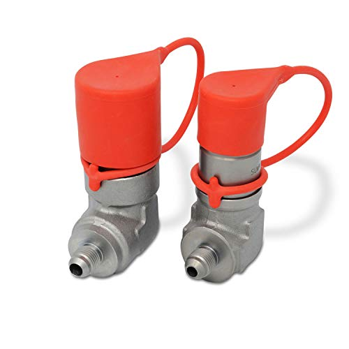 90 Degree Flat Face Skid Steer Hydraulic Quick Connect Coupler