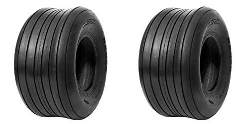 2 New - 13X5.00-6 4PR SU08 HI-Run Ribbed Commercial Mower - Tires Ribbed