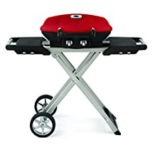 Napoleon TQ285X-RD-A TravelQ 285 Portable Propane Gas Grill with Scissor Cart in Red