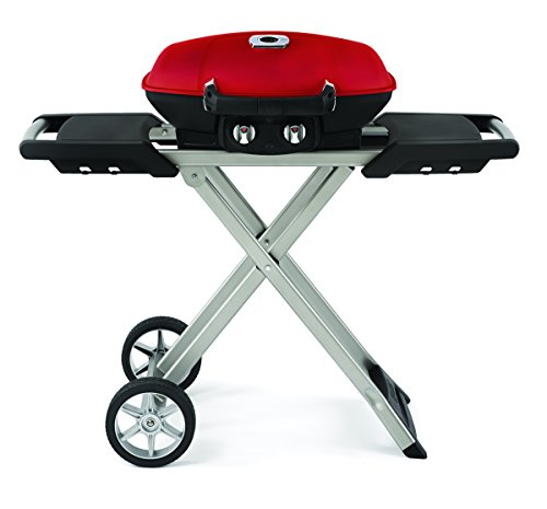 Napoleon Grills TQ285X-RD-A Travelq 285 Portable Gas Grill with Scissor Cart, Red Napoleon Grills