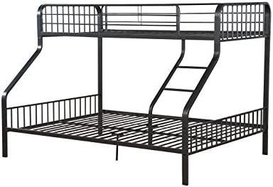 Acme Caius Gunmetal Twin XL Over Queen Bunk Bed