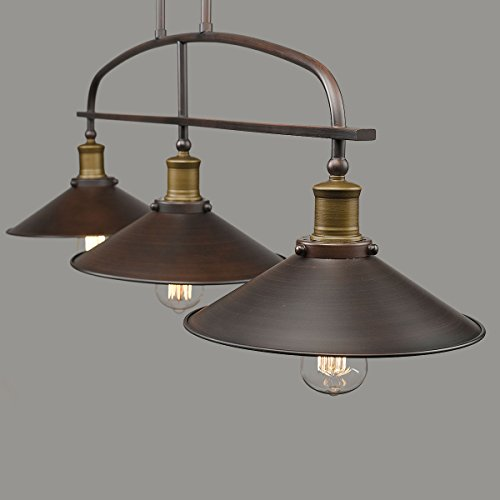 YOBO Lighting Antique Kitchen Island Pendant, 3light Metal Ceiling Chandelier  Fixtures and Beyond