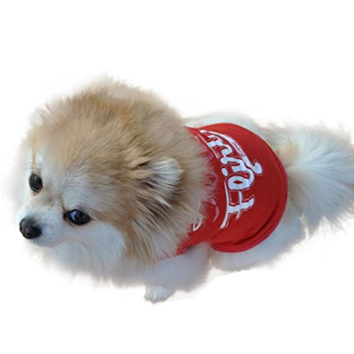 Free Shipping Beautyvan New Cat Dog Puppy Pet Clothes Red Violet T