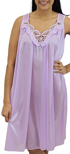 Venice Womens' Silky Looking Embroidered Nightgown 06N XX-Large - Store Venice