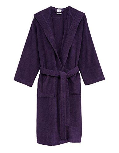 TowelSelections Men's Robe, Turkish Cotton Hooded Terry Bathrobe Medium/Large Wineberry