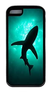 Generic Dolphin in the Sea TPU Rubber Case for Iphone 5c Black