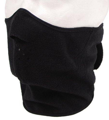 MFH Masque de protection contre le froid Thermo Wind Ultra Léger Noir Taille Unique 27655