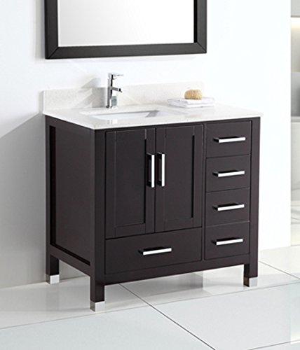 Belvedere Bath L Inch Belvedere Modern Freestanding Bathroom - Freestanding 36 inch bathroom vanity