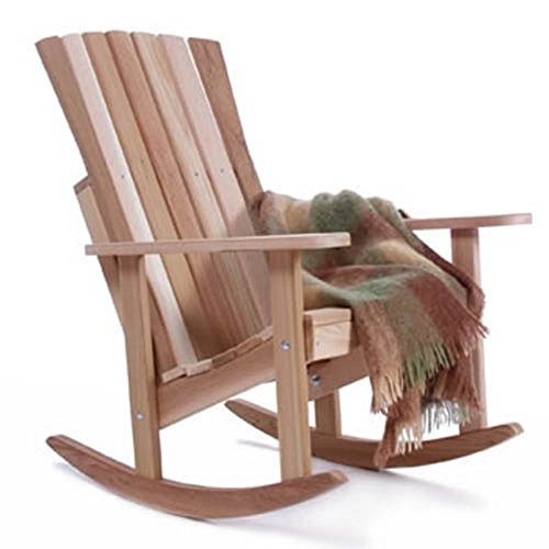 All Things Cedar Athena Adirondack Rocking Chair - Western Red (Red Cedar Adirondack Rocking Chair)