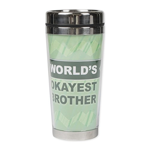 World's Okayest Brother 16 Ounce Stainless Steel Travel Tumbler Mug