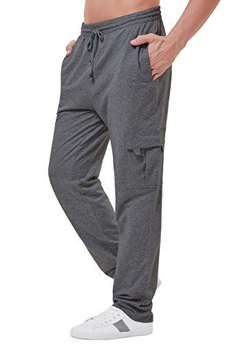 PAUL JONES Men's Cargo Pants Trousers Stylish Multi-Pockets Cotton (Cargo Cotton Sweatpants)