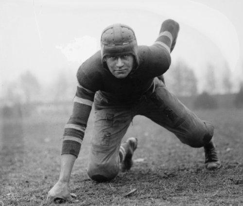 1920 photo John Loehler, GW, football Vintage Black & White Photograph (Vintage Football Black And White)