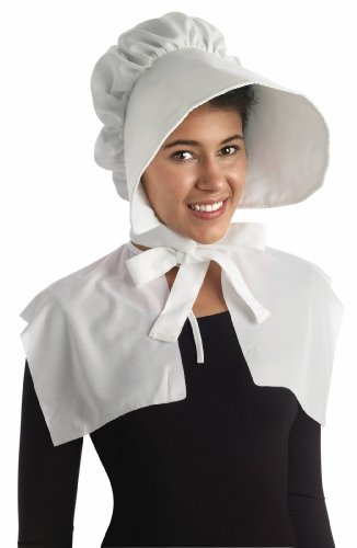 Forum Novelties Oversized Bonnet, White, One Size Pink Bonnet