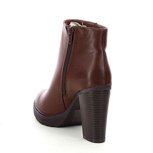 Go Tendance - Botas de Material Sintético Mujer marrón