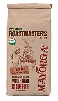 Mayorga Organics, Whole Bean, 100% Organic, Medium Roast, Roastmaster's Blend 2lb by Mayorga Organics