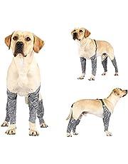 YHomU Small Medium Outdoor Travel Dog Leg Cover Breathable Adjustable Soft Elastic Reusable Washable Pet Leg Protector Puppy Leg Sleeve