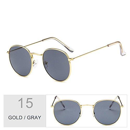 Gold De Uv400 Sol Steampunk De Enormes Gafas Gray Unas Sol Morado Plata Del En Para Bastidor Hombres TIANLIANG04 Oval Metal Gafas Mujeres xTnRvW