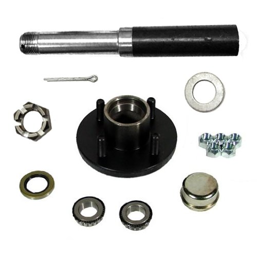 Southwest Wheel 2,000 lbs Trailer Axle Spindle with 4-4'' Bolt Circle Hub by Southwest Wheel
