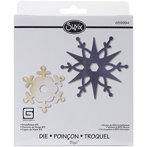 Sizzix Snowflakes-3 Bigz Die by Basic Grey, 5.5-Inch by 6-Inch